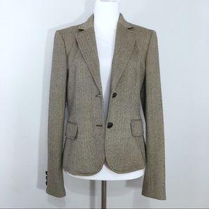 J Crew Wool Brown Schoolboy Blazer Two Button 8